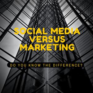 Social Media versus Marketing (1)